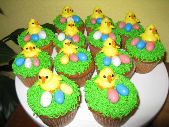 Duck Easter Cupcakes